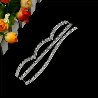 3pcs Lace Border Metal Cutting Dies For DIY Scrapbooking Album Paper Card;