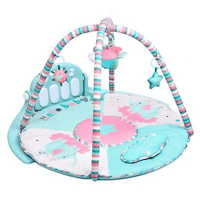 Baby Kick and Play Piano Gym, New-Born Baby Play Mat with Activity Centre Music