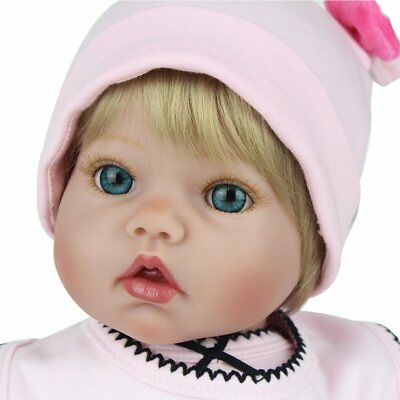 "Toddler 20"" Baby Dolls Silicone Reborn Silicone Boy Doll Newborn Lifelike Gifts"