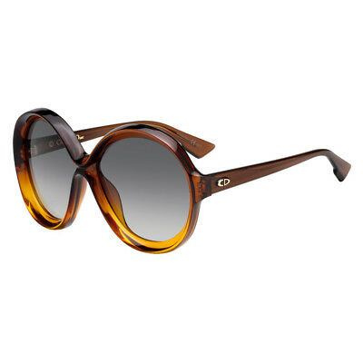 5ea537fbbb2 Lunettes De Soleil Christian Dior Bianca 12J9O Brown Orange Grey Gradient  58 NEW