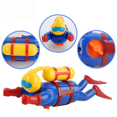Baby Kid Bath Toy Creative Swimming Diving Scuba Diver Wind-up Bathtub Toy