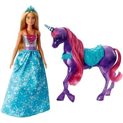NEW Barbie Dreamtopia Princess Doll And Purple Sparkle Unicorn Playset Girls Toy