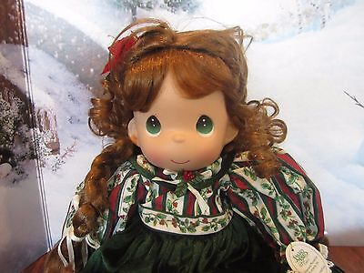 """Precious Moments 2004 christmas belle stocking  Doll  13"""""""