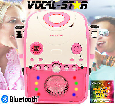 Vs Pink Partybox Bluetooth Cdg Karaoke Machine Speaker 2 Microphones Songs Xdem