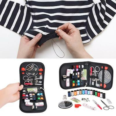 Sewing Box Kit Set Needle Scissor Thread Storage Thimble Measure Travel Portable