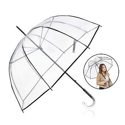 "Clear Umbrella Big Arc 52"" Transparent Clear Bubble Umbrella for Adult"