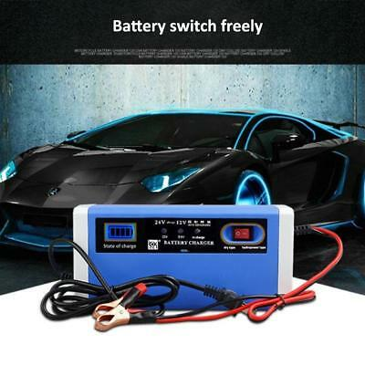 12/24V 10A Car Motorcycle Battery Charger Intelligent Switching LCD Display