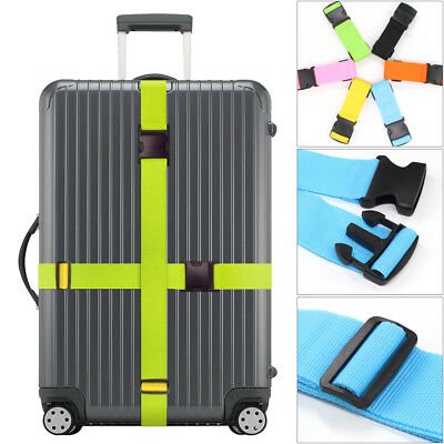 Adjustable Strong Extra Safety Travel Suitcase Luggage Baggage Strap Tie Belt