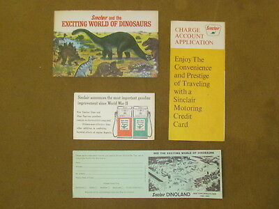 Sinclair Gas Station World's Fair Dinosaur Brochure, Credit App, Advertising