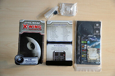 """TIE Advanced -Expansion Pack Star Wars:""""X-Wing Miniatures"""" ohne Modell"""