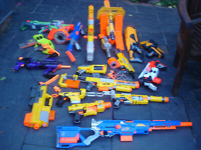 Job lot bundle 19 NERF GUNS longstrike longshot spectre raider raven stampede