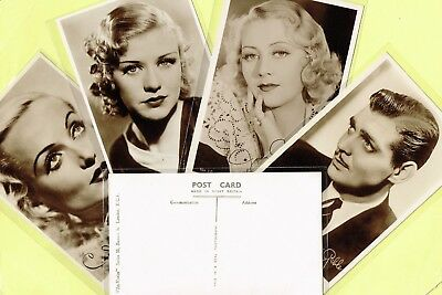 FILM KURIER - 1930s Film Star Postcards issued in the UK #1 to #108