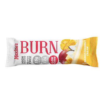 Maxine's Burn Bars 40G  X 24 - Low Carb - High Protein - Gluten Free Protein Bar