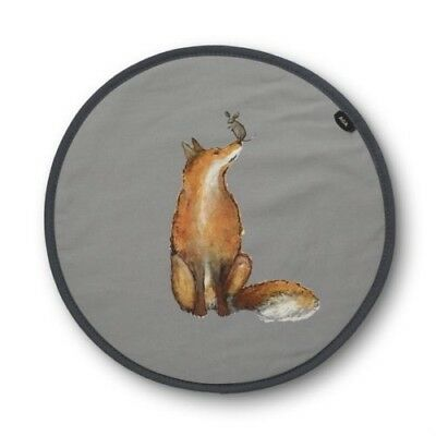 Genuine Fox and Mouse Playing  Aga Lid Covers / AGA Chefs Pads W3680