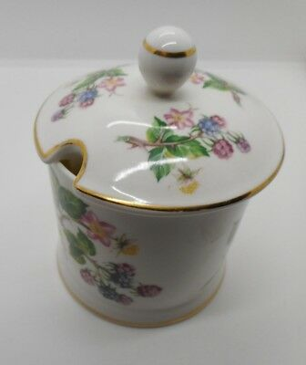 Porcelain jam pot with lid made for Fortnum and Mason Ltd. by Victoria China