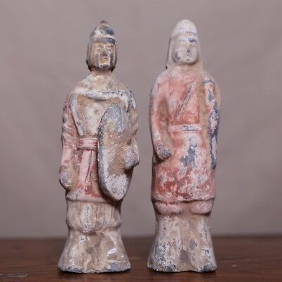 Chinese North Wei A.C 3 Old Statue Clay Standing Pottery figurine Sculpture HB09