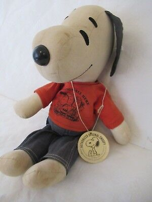 Vintage Hard to Find 1950s Schulz Authorized Original Snoopy Plush Doll Toy