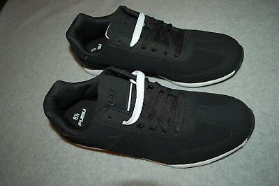 c120161ca161 Mens Athletic Shoes BLACK FUBU SNEAKERS Lace Up OLD SCHOOL LOOK Size 7