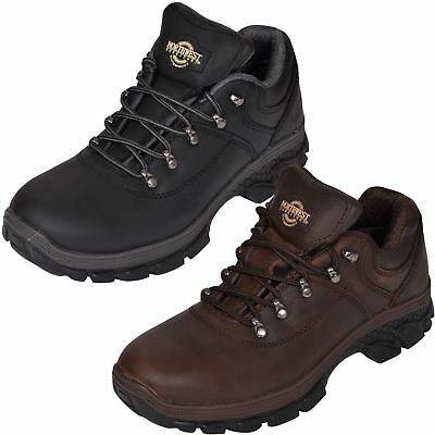 Mens Leather Waterproof Walking Boots Northwest  Hiker Trainer Ankle Shoes