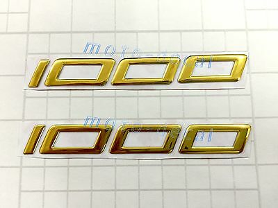 Gold 1000 Raised 3D Chrome Decal Fairing Sticker Kawasaki Z1000 ZX1000 ZX-10R