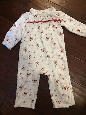 Janie and Jack Layette  girls  Long Sleeve romper size 12 -18 months