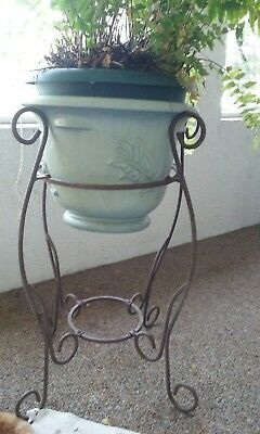 "Antique Wrought Iron Planter-28"" x 23"" -Solid and Sturdy  - EUC"