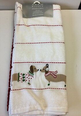 Dachsund Embroidered Kitchen Towels