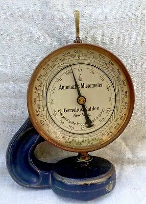 Early 1900's Automatic Micrometer By Cornelius Kahlen 623 New York ~ Germany