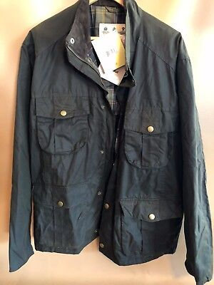 #91 Barbour 'New Utility' Regular Fit Waxed Cotton Jacket Size XXL OLIVE GREEN