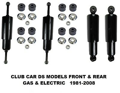 Club Car DS Rear & Front Shock Absorbers Fit 1981-2008 G&E Golf Carts