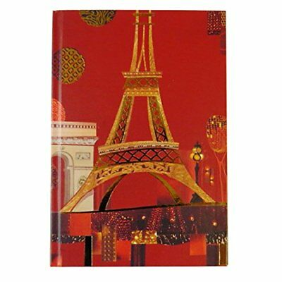 A5 Spirit Paris Notebook Lined Paper Eiffel Tower Journal Magnetic Closure 3Pack