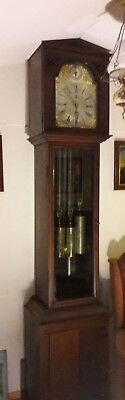 19th Century Tubular Chime Grandfather Clock, in working order