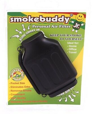 Smoke Buddy Junior Personal Air Purifier Cleaner Filter Removes Odor(Black)