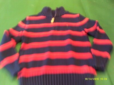 boys size 5 Ralph Lauren half-zip sweater pullover in navy/red