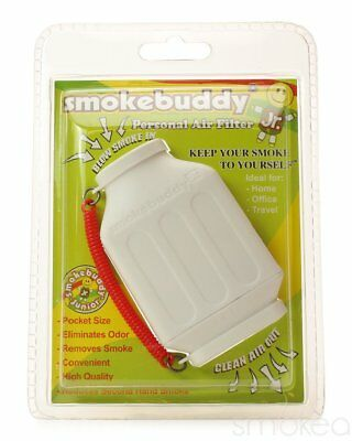 Smoke Buddy Junior Personal Air Purifier Cleaner Filter Removes Odor(White)