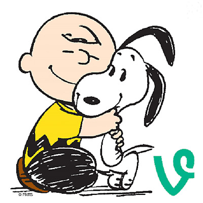 Peanut Gang,Charlie Brown And Snoopy Hugging,Nursery Home Decor Print,Great Gift