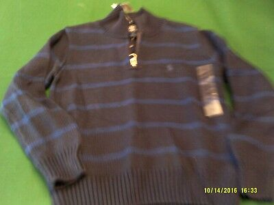Boys NWT Ralph Lauren size 5 half-zip pullover sweater in navy