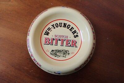 Wm Younger's Scotch Bitter Metal Advertising Dish / Ashtray