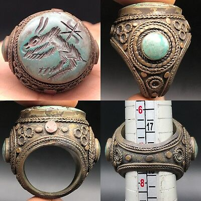 Bronze Wonderful Old Antique Unique Roman Lovely Old stone Ring