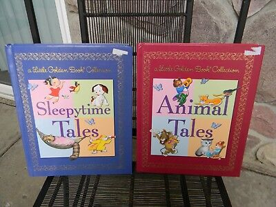 2 Little Golden Book Collection Books: Animal Tales AND Sleepytime Tales EUC