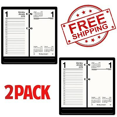 Pack of 2 At-A-Glance Recycled Desk Calendar Refill 3 1/2 x 6 White 2018 E717R50