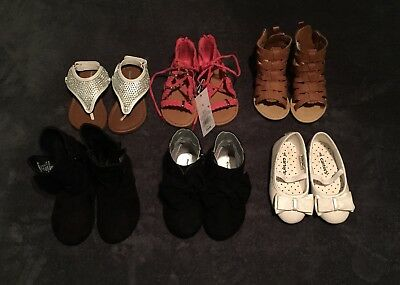 Lot of Toddler Girl Shoes Size 6