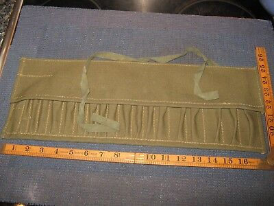 Vintage Ex Wd /| Canvas Tool Kit Roll Fits Mk1 Land Rover & British Afv 1955