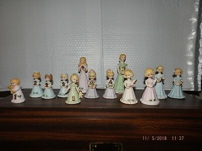 Enesco Growing Up Birthday Girls ages 1,2,3,4,5,6,9,11 Some doubles/triples EC