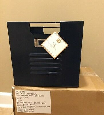 NEW Pottery Barn Teen Large Locker Bin NAVY