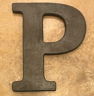 "NEW Pottery Barn Kids Faux BRONZE Letter ""P"""