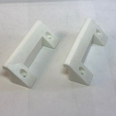 Set of Wall Brackets For PS4 PlayStation 4 Console In White