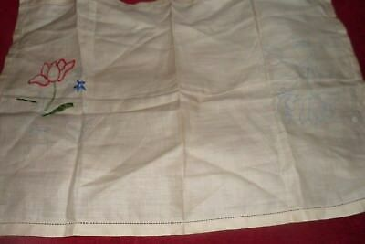 Embroidery started not finished no threads