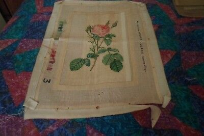 Started not finished rose needlepoint no threads