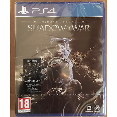 Middle-earth: Shadow of War (PS4) New and Sealed